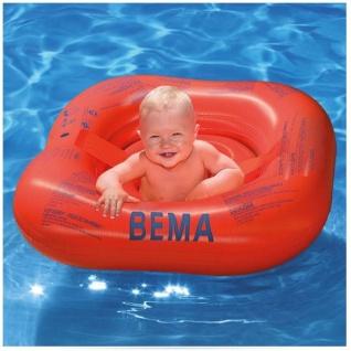BEMA Baby Schwimmsitz eckig 70 cm - Orange Schwimmhilfe Schwimmring Bade Hilfe S - Vorschau