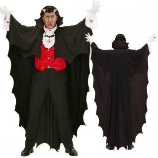 VAMPIRUMHANG Fledermaus Umhang Vampir CAPE Dracula Kostüm Halloween 0097