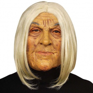 OMA MASKE Kostüm Alte Frau JOLIE Großmutter Omi Karneval Fasching