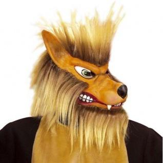 MASKE WOLF Karneval Kostüm Tier Märchen Halloween (8344)