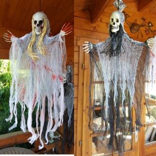 Deko Figur SENSENMANN TOD oder GESPENST Hängefigur Halloween Horror Party Grusel