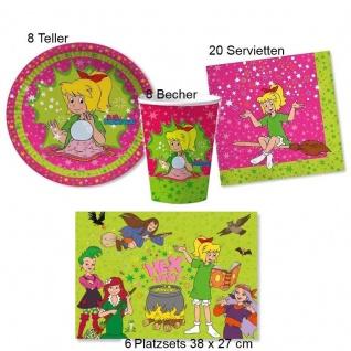 BIBI BLOCKSBERG Set Kinder Geburtstag Teller Becher Servietten Platzsets 42 tlg.