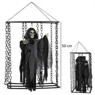 Gefangenes Horror Skelett im Verlies hängende Halloween Party Dekoration Dungeo