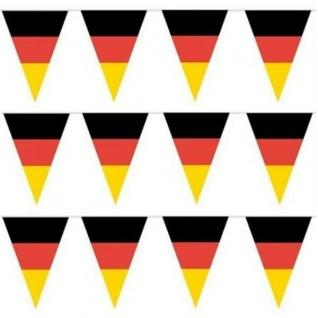 10 m Kunststoff Wimpelkette Deutschland Deko Party EM / WM #731