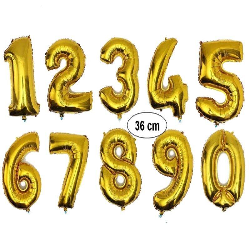 Zahlen Ballon Folienballon Helium Geburtstag Zahl 8 gold