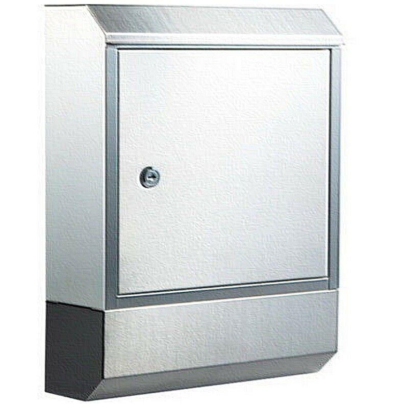 Edelstahl Design Briefkasten Zeitungsfach Postkasten Briefbox Neu
