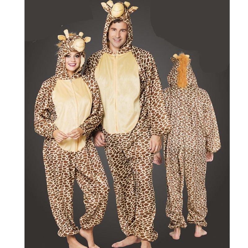 giraffe pl sch kost m overall damen und herren jumpsuit. Black Bedroom Furniture Sets. Home Design Ideas