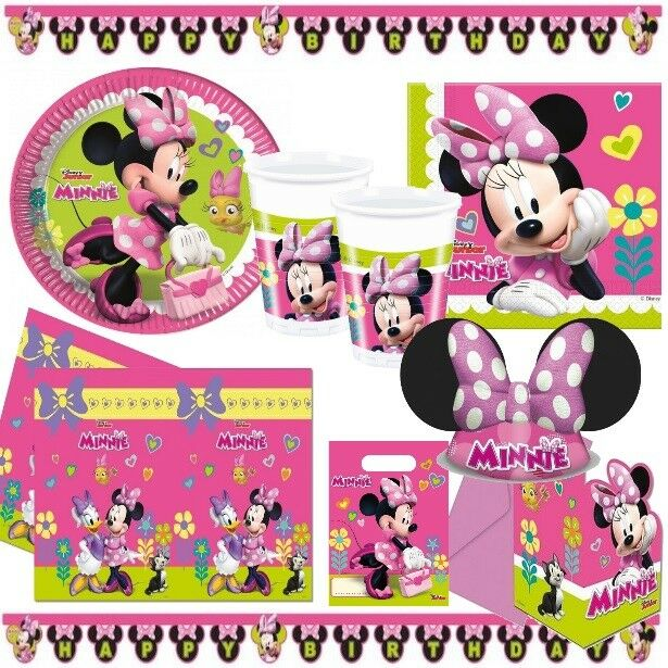 Minnie Maus Party Deko Kinder Geburtstag - Mega Auswahl - Disney Mickey Maus