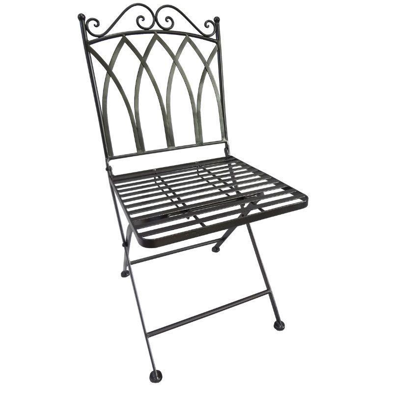Fantastisch EISENSTUHL Gartenstuhl Klappbar Farbe Anthrazit/bronce (848) Metall Stuhl