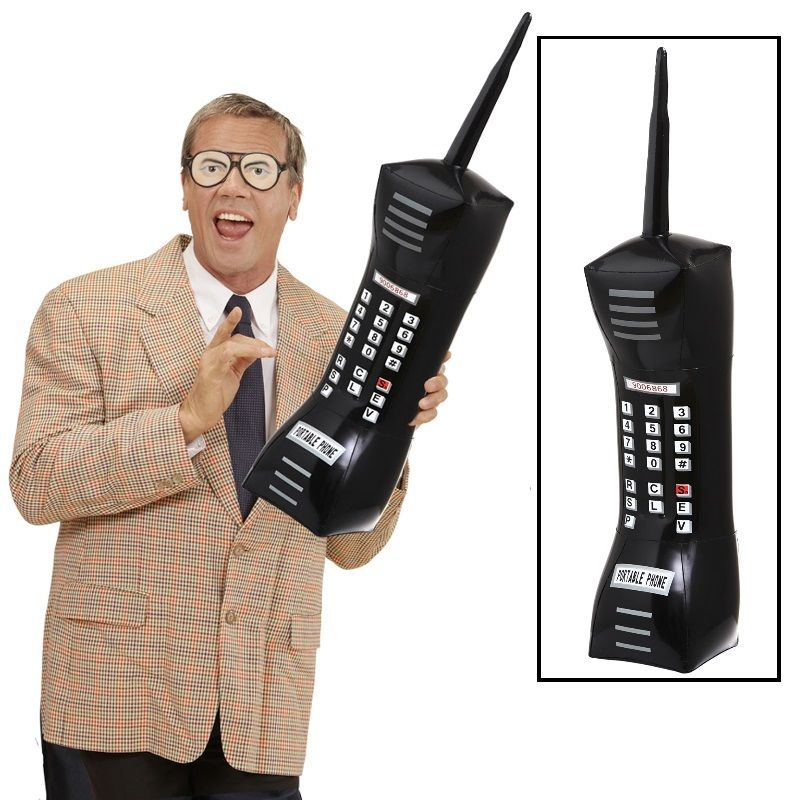 Aufblasbares handy riesenhandy telefon sehr gro 77cm for 90er mode kaufen