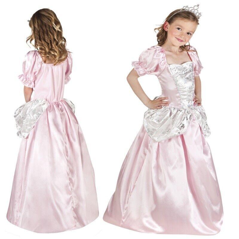 Prinzessin Kleid Mit Diadem Pink Rosa Kinder Kostum Neu Madchen
