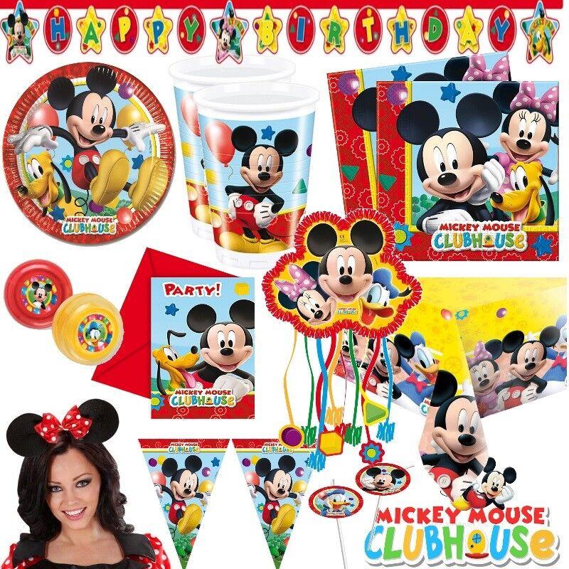 Micky Maus Alles Zum Kindergeburtstag Party Deko Mickey Mouse Minnie