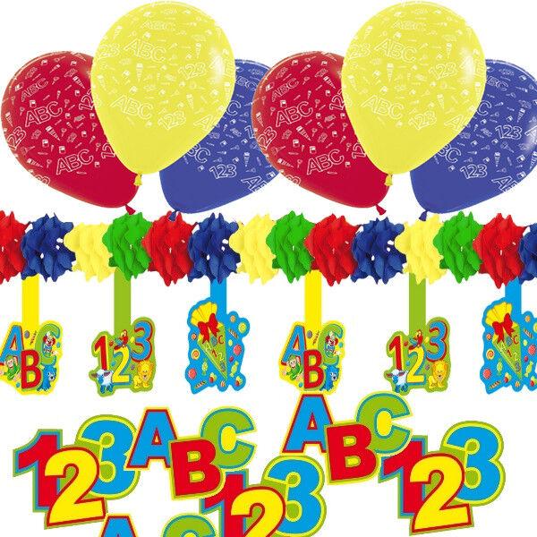30 Tlg Deko Set Einschulung Schulanfang Luftballons Girlande