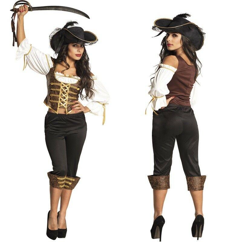 Piratin Piraten Braut Grace Damen Kostum Seerauberin Karneval
