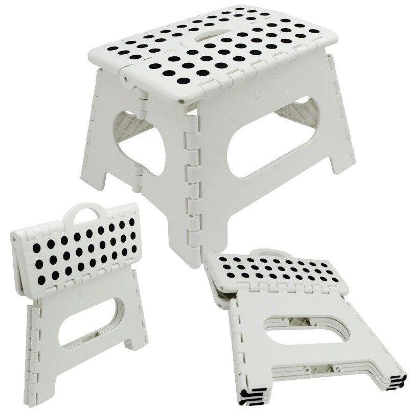 Klapphocker weiß  KLAPPHOCKER - WEISS - Steighilfe klappbar Sitzhocker Klappstuhl bis ...