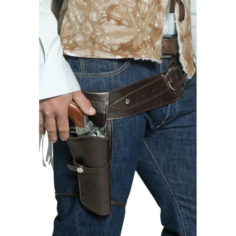 110 cm NEU Cowboy Pistolen-Holster mit Gürtel
