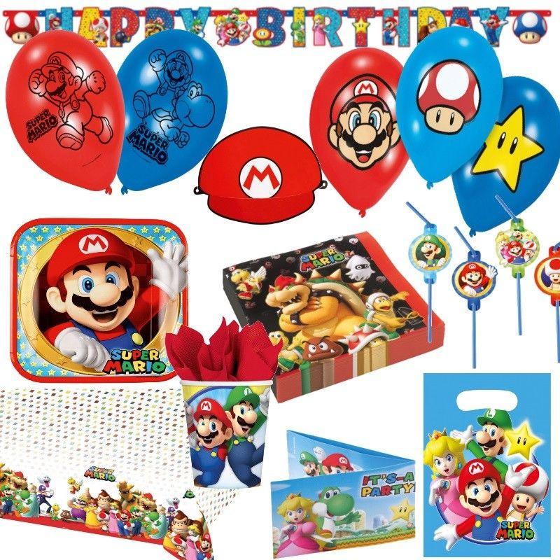 Super Mario Bros Kinder Geburtstag Party Deko Luigi Tod Top