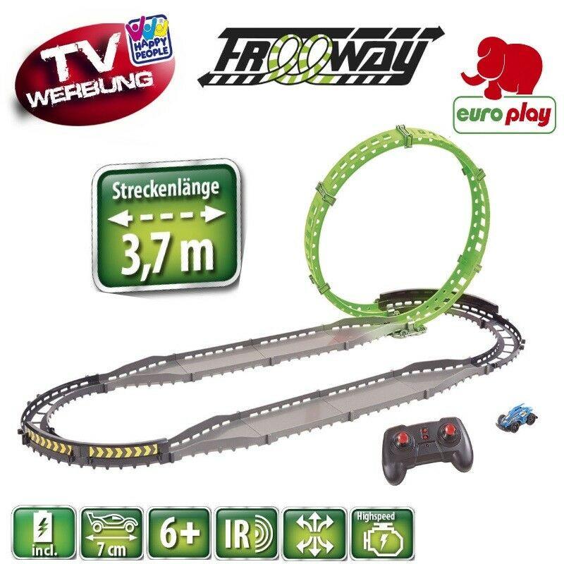 Europlay RC Rennbahn Freeway mit 5 Loopings NEU Ferngesteuertes