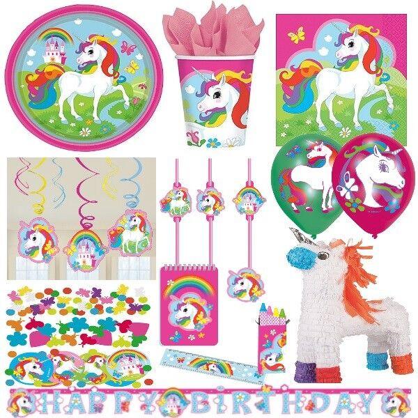 Unicorn Regenbogen Einhorn Alles Zum Kindergeburtstag Party Deko
