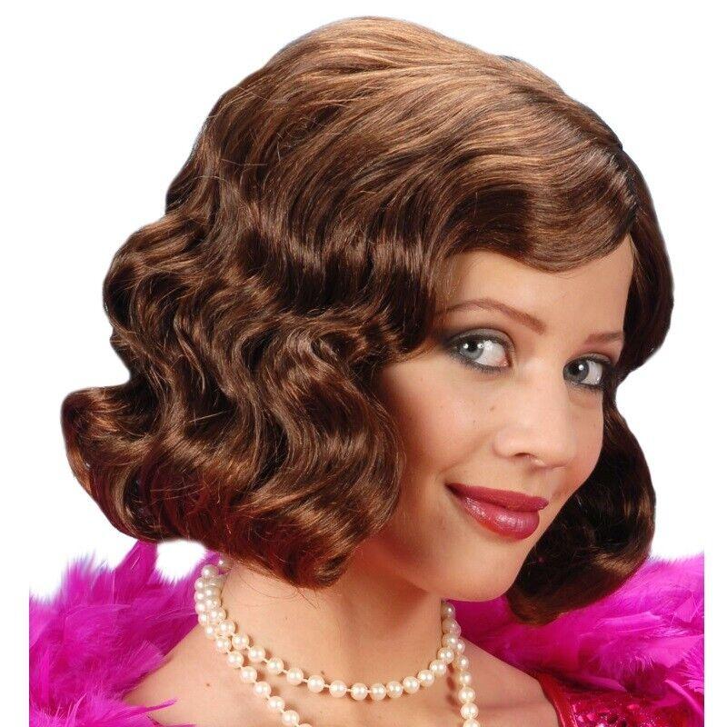 Charleston Flapper Girl Gatsby Babylon #0997 20er 30er Damen Perücke braun