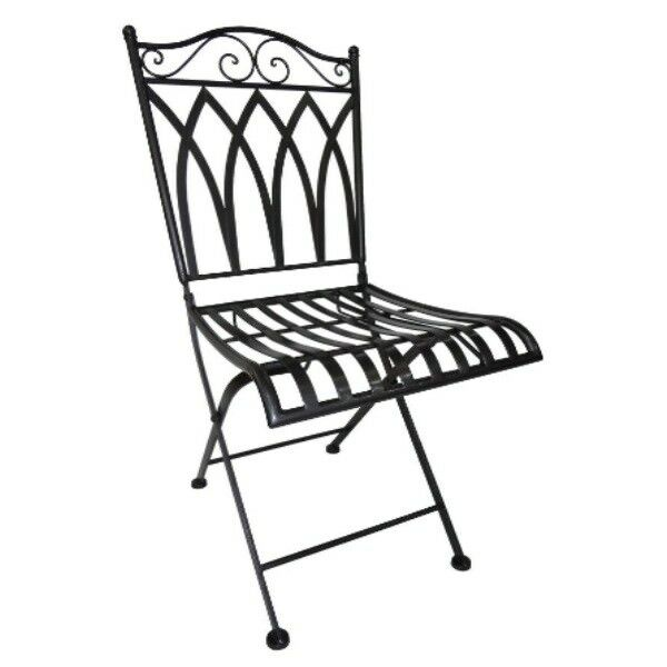 Gartenstuhl Metall Stuhl Klappbar Anthrazit 38 X 40 X 91 Cm Casa Blanca  Terrasse