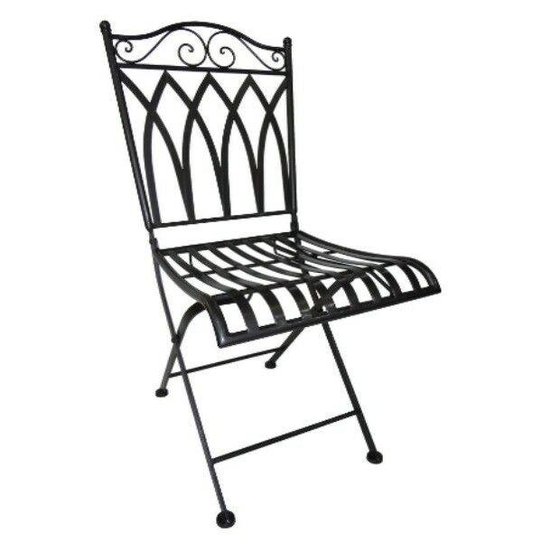 Perfekt Gartenstuhl Metall Stuhl Klappbar Anthrazit 38 X 40 X 91 Cm Casa Blanca  Terrasse