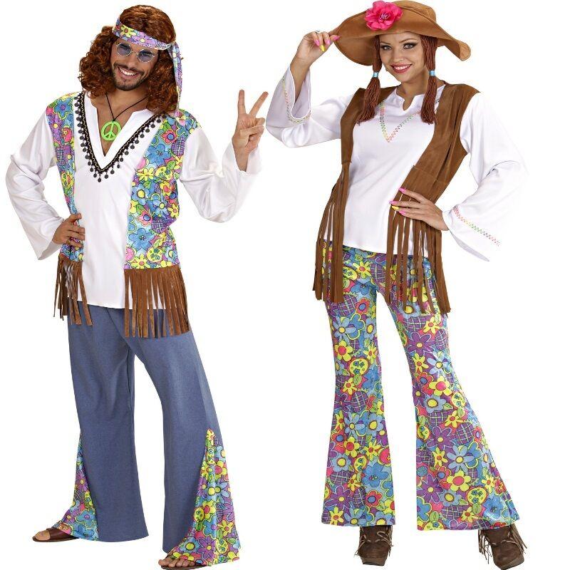 Partnerkostum Damen Herren Hippie Kostum 60er 70er Schlagermove