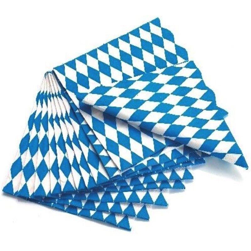 100 Servietten Bayern Raute Wiesn Oktoberfest Blau Weiss Tischdeko