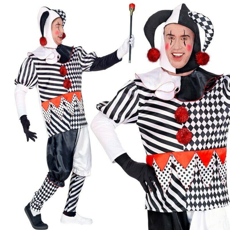 Kostüm Clown Gr.L Kostüm Karneval Kostüm für Herren Herrenkostüm Pierrot