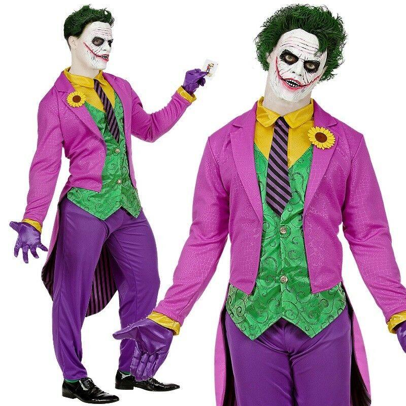 XL 46//48 #0803 Schurkin Harlekin Clown Bösewicht Mad Joker Damen Kostüm Gr