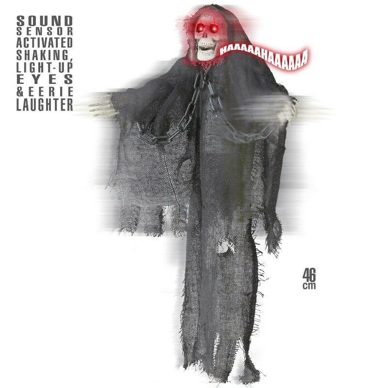 Tod Skelett Grim Reaper Animiert Mit Bewegung Sound Und Licht Halloween Deko Kaufen Bei Schreibers Shop Vertriebs Gmbh Co Kg