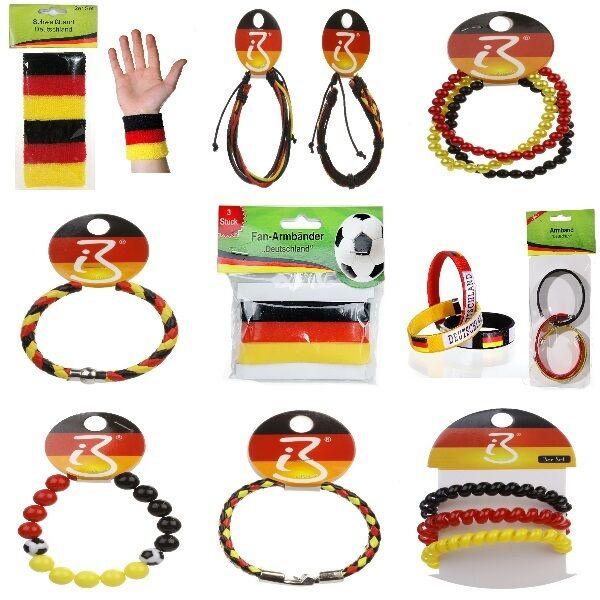 Dekoration Deutschland.Armbänder Schweißbänder Deutschland Fan Artikel Dekoration Party Wm Em Auswahl