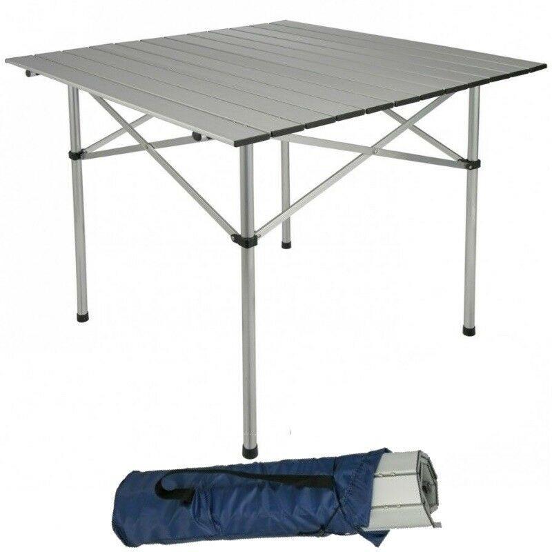 Aluminium Campingtisch 70 X 70cm Klapptisch Balkontisch Gartentisch