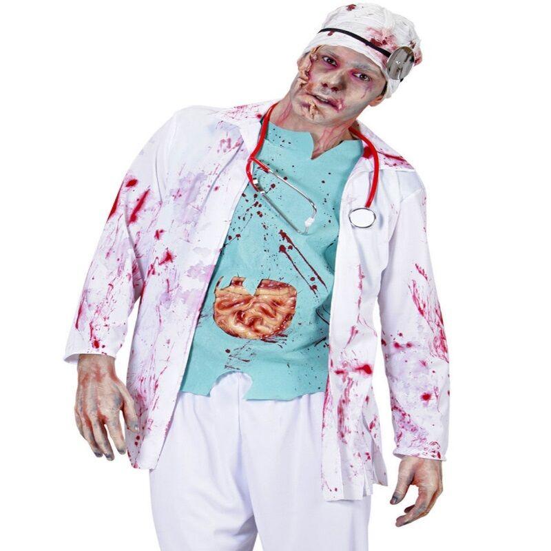 Zombie Doktor Gr M L 48 52 Herren Kostum Arzt Kittel Chirurg