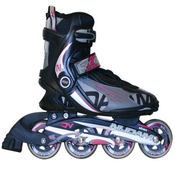 TOP Damen Inliner Skater Gr 37 ABEC 7 CHROM Leder Softboot rosa//schwarz