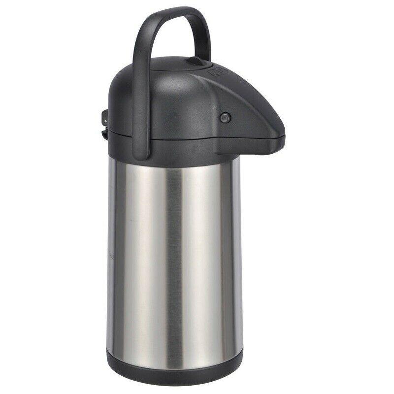 Isolierkanne Thermo Kanne Kaffeekanne Edelstahl Airpot 9 Liter Pumpkanne