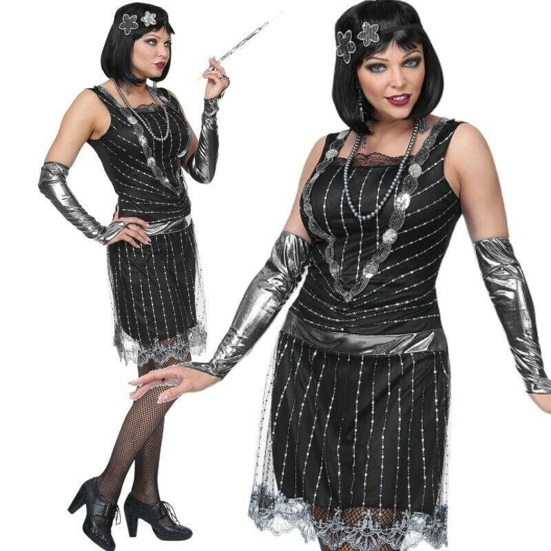 Elegantes 20er Jahre Charleston Damen Kleid Gr 46 48 Xl Schwarz Flapper 0795 Kaufen Bei Schreibers Shop Vertriebs Gmbh Co Kg