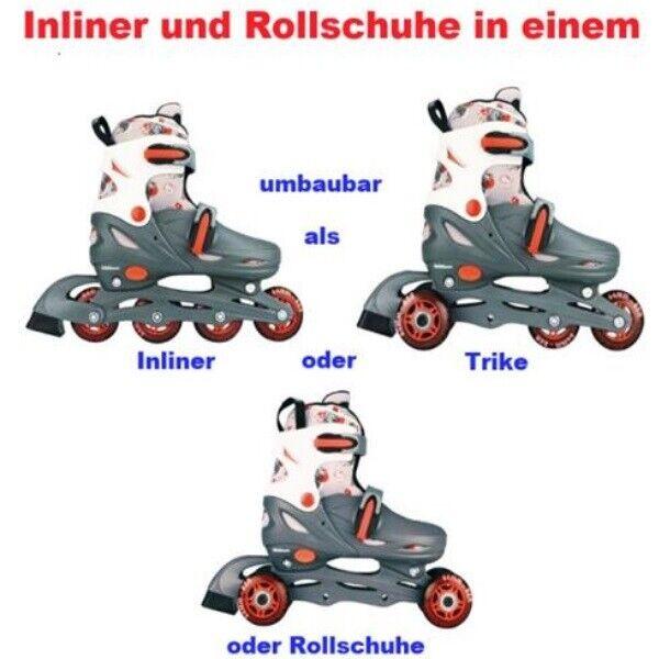 Kinder Inliner Und Rollschuhe In Einem 30 31 32 33 Grau