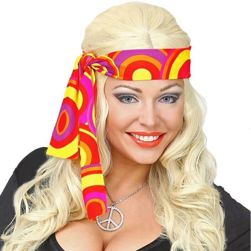 Buntes Hippie Stirnband Haarband retro 70er Jahre Party Karneval Fasching #9282