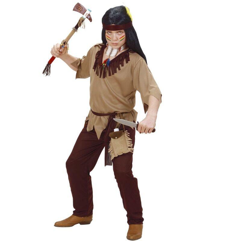 Oberteil Hose Gürtel Stirnband Apache 4tlg Indianer Herren Kostüm Krieger