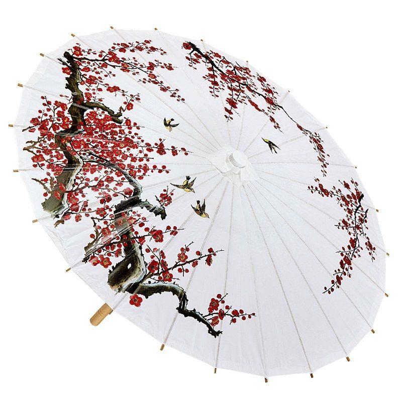 Asiatischer Sonnenschirm chinesischer asiatischer schirm sonnenschirm weiß zubehör