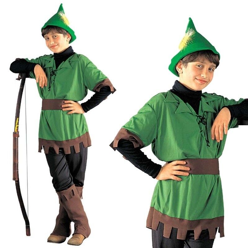 Kinder Robin Hood Kostüm Peter Pan Kinderkostüm Räuber Bogenschütze Dieb Jäger