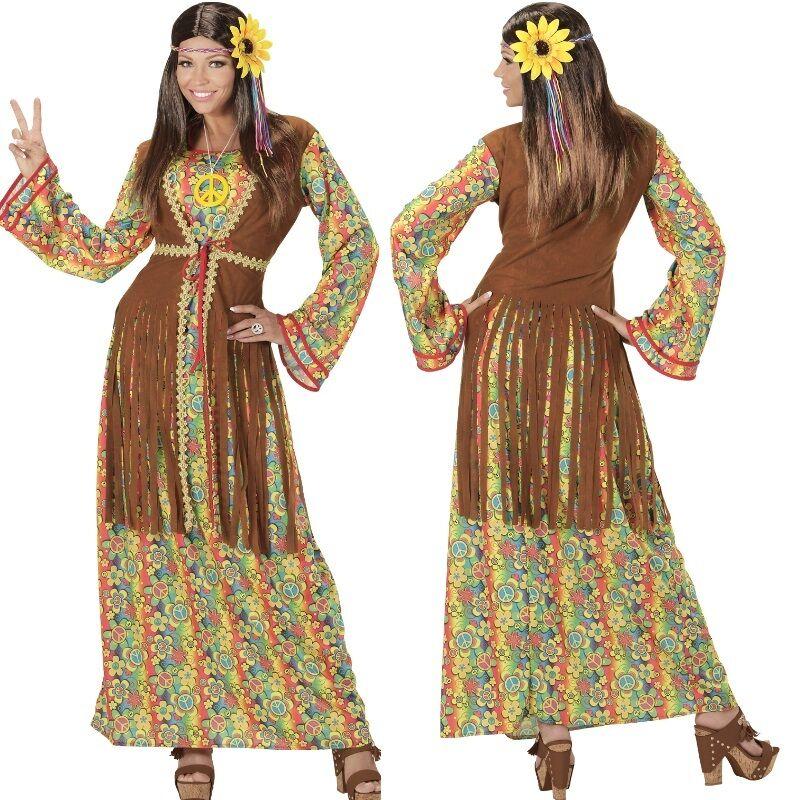 Happy Hippie Lady 60er 70er Jahre Damen Kostum Karneval Fasching