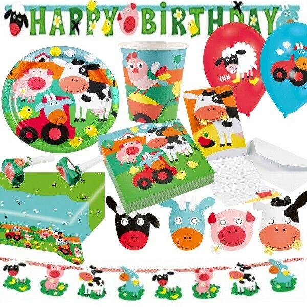 Bauernhof Tiere Top Auswahl Kindergeburtstag Geburtstag Party