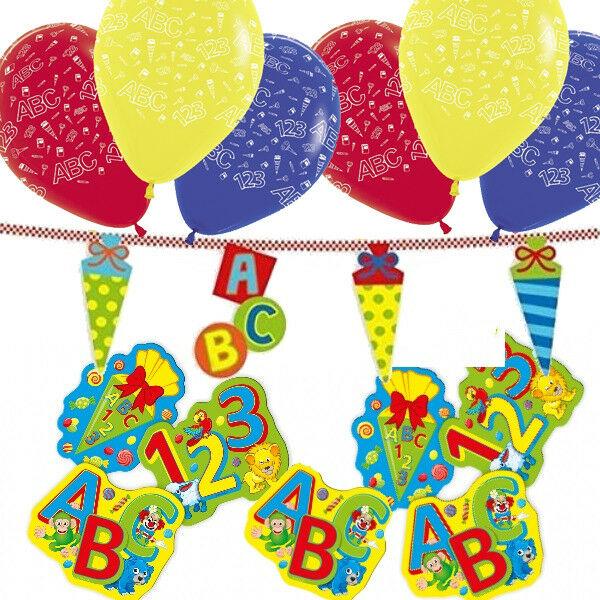 31 Tlg Deko Set Einschulung Schulanfang Luftballons Girlande