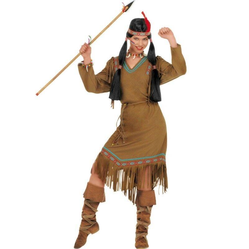 Indianer Cheyenne Indianerin Damen Kostum Neu Karneval Fasching