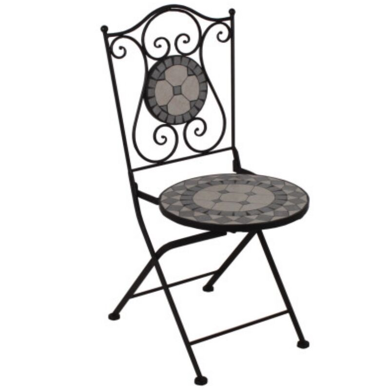Mosaik Klappstuhl Metall Antik Design Eisen Stuhl Garten Bistro