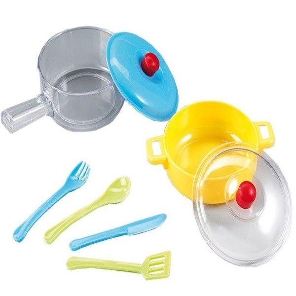 Uberlegen Kinder Küchen Set Kochset Topf Und Pfanne Mit Deckel Happy People 47404