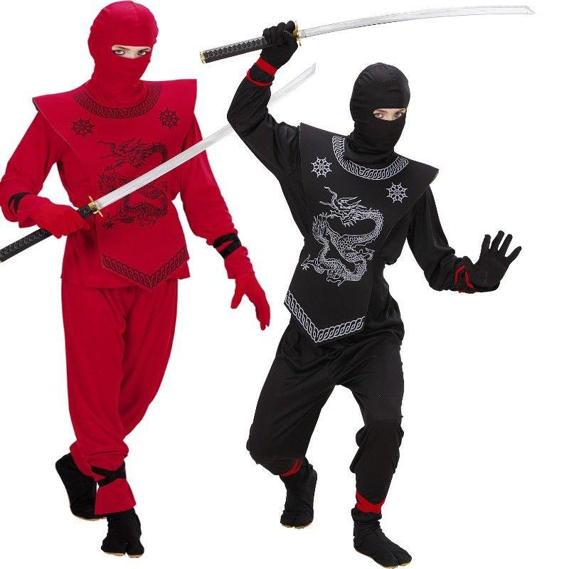 elegantes ninja kost m kinder ninjago k mpfer samurai in schwarz oder rot kaufen bei. Black Bedroom Furniture Sets. Home Design Ideas