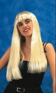 ABBA Perücke blond lang mit pony Fasching Zubehör